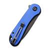 CIVIVI Elementum Blue G10 Black (C907X) closed clipside