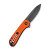 CIVIVI Elementum Orange G10 Black (C907Y) open clipside
