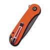 CIVIVI Elementum Orange G10 Black (C907Y) closed clipside