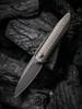 WE Knife CO. Black Void Opus Black Titanium Carbon Fiber (2010V-1) open