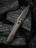 WE Knife Co. Black Void Opus Black Titanium Carbon Fiber (2010V-1) open clipside