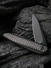 WE Knife CO. Black Void Opus Black Titanium Carbon Fiber (2010V-1) half open