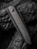 WE Knife CO. Black Void Opus Black Titanium Carbon Fiber (2010V-1) closed scales