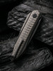 WE Knife CO. Black Void Opus Black Titanium Carbon Fiber (2010V-1) closed clipside