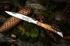Laguiole Pocket Knife Corkscrew Olive Wood (ZakmKurkOlijf) open
