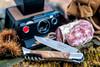 Laguiole Pocket Knife Corkscrew Olive Wood (ZakmKurkOlijf) half open