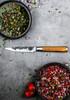 """Forged Olive Utility Knife 5"""" (OliveUni) above"""