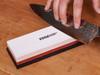 """EdgeLogix Ceramic Whetstone 7"""" Two-Sided Knife Sharpener 1000/3000 Grit w/Silicone Base (C18060)"""