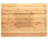 Kussi Bamboo Cutting Board with Juice Groove & Grip - 55cm x 40cm (59597)