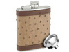 Savoir Flask - Genuine Leather - Brown - 6oz (FGBR6Z)
