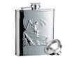 Savoir Flask - Mirror Finish Skier - 6oz (FMIP6Z)