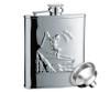 Savoir Flask - Mirror Finish Skier - 6oz (FMIP6Z)