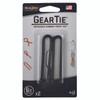 """Nite Ize Gear Tie 6"""" - 2pk - Black (GT6-2PK-01)"""