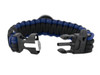 Black Tusk Survival Bracelet Large - Blue (PARL-BL)