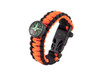 Black Tusk Survival Bracelet Medium - Orange (PARM-OR)