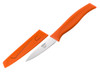 Kussi Paring 3 inch Knife with Sheath - Orange (8000OR)