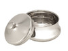 Ice Shaving Bowl with Lid off - Chrome (IS-BOWL)