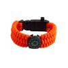 Black Tusk Survival Bracelet with LED - Orange (SURVBR-OR)