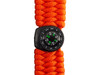 Black Tusk Survival Bracelet with LED - Orange (SURVBR-OR)
