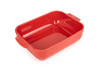 Peugeot Appolia Ceramic Rectangular Baking Dish 25cm - Red (60091)