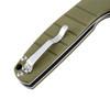 Kizer Gemini Green - Open pocket clip