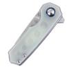 Kizer Lieb Grey/Green - Closed handle