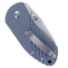 Kizer Contrail Blue - Closed pocket clip