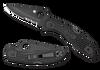 Spyderco Delica 4 Black FRN Black Combination Edge