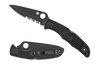 Spyderco Endura 4 Black FRN Black Combination Blade