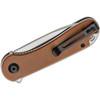 CIVIVI Elementum Brown Micarta (C907M) - closed pocket clip
