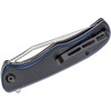 CIVIVI Shredder Blue + Black G10 (C912A) - closed clipside