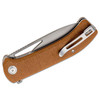 CIVIVI Riffle Brown Micarta (C2024A) - closed clipside