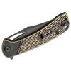 CIVIVI Dogma Black Polished Brass (C2005E) - closed clipside