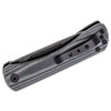 Kizer Pinch Black Micarta (V3009N4)- closed clipside