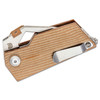 Kizer CyberBlade Brown Micarta (V2563A2) - closed clipside