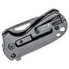 Kizer Catshark Titanium Micarta (V2561N2) - closed clipside