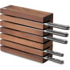 Wusthof Thermo Beech Magnetic Knife Storage (7249) - horizontal with knives