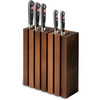 Wusthof Thermo Beech Magnetic Knife Storage (7249) - vertical with knives