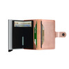 Secrid Miniwallet Metallic Rose (Mme-Rose)- open