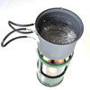 UCO Gear Candlelier Lantern Aluminum (C-A-STD) in use for cooking