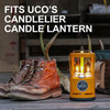 UCO Gear 9 Hour Citronella Candles 3Pc (L-CAN3PK-C) use in candelier lantern