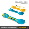 UCO Gear Utility Spork 2 Pack With Tether Gold/Sky (F-SP-UT-2PKBULK-GOLD-SKY) features