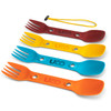 Utility Spork 4 Pack With Tether Classic (F-SP-UT-4PK-CLASSIC)