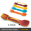 Utility Spork 4 Pack With Tether Classic (F-SP-UT-4PK-CLASSIC) dimensions