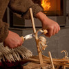 Morakniv Wood Carving 220 Splitting Knife (M-11729) lifestyle in use