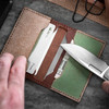Knafs Leather Strop Wallet Brown (KNAFS-00013) in use