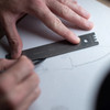 Knafs Titanium Ruler + Knife Angle Finder (KNAFS-00014) lifestyle ruler