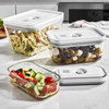 Zwilling Fresh & Save Glass Container Set 3 Pc (36803-003) leftovers storage