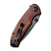 CIVIVI Pintail Cuibourtia Wood (C2020DS-2) closed clipside