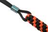 WE Paracord Lanyard With Titanium Bead Orange + Black (A-01C) beads